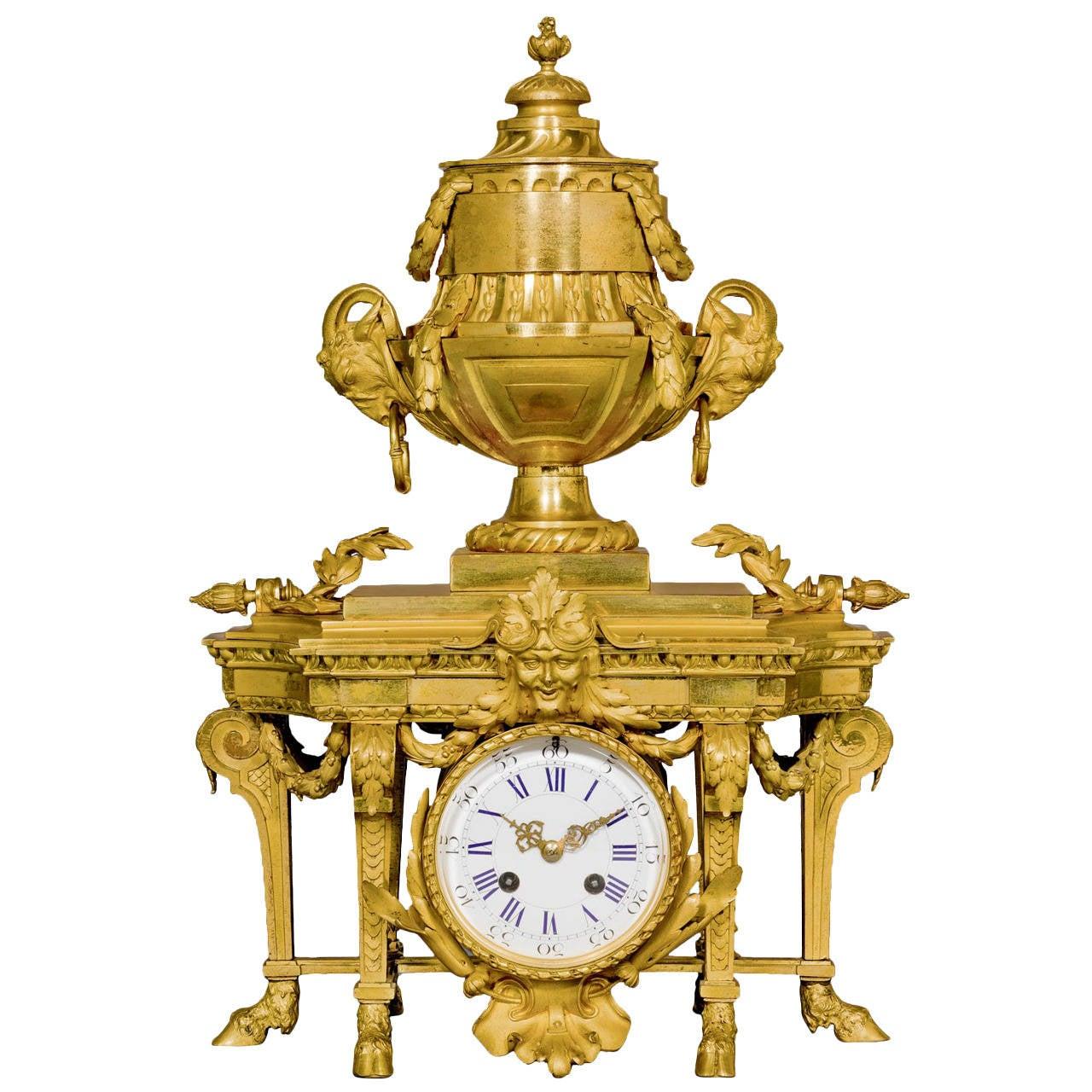 Louis XVI Style Ormolu Mantel Clock