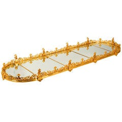 Empire Style Ormolu Mirrored Surtout De Table