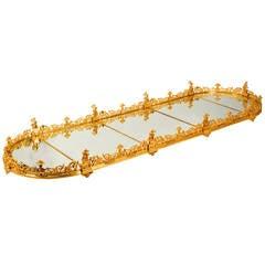Empire Style Ormolu Mirrored Surtout De Table