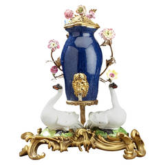 Ormolu-Mounted Meissen Style Porcelain Table Fountain