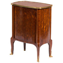 Ormolu-Mounted Parquetry Writing Cabinet by F. Linke