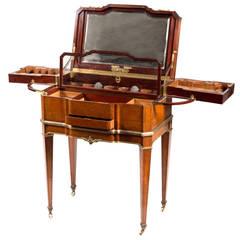 Ormolu-Mounted Burr Amboyna and Mahogany Dressing Table