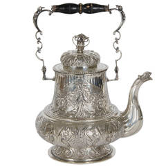 Silver Tea Pot with Mahogany Handle