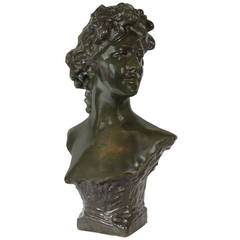 Female Figure Bronze Bust in the Manner of Carpeaux