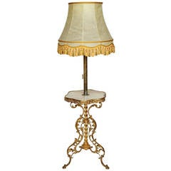 Ormolu-Mounted and Marble Standing Lamp