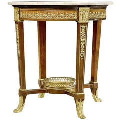 Louis XVI Period Ormolu-Mounted Circular Side Table by G. Jacob