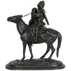 Russian Bronze Figure of a Cossack on Horseback