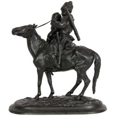 Russian Cast Iron Figure of a Cossack on Horseback