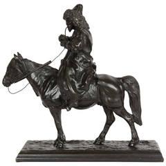 Russian Cast Iron Figure of a Cossack on Horseback