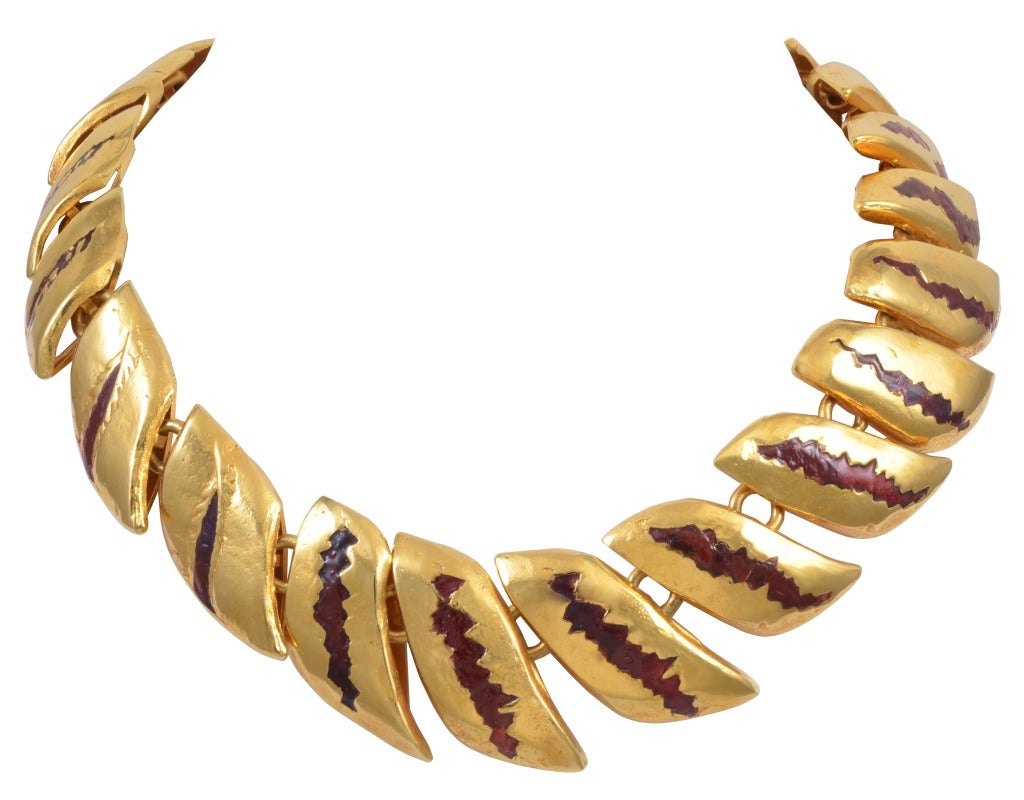 """French Line Vautrin, """"Le Dragon"""" Necklace, France, C. 1946 For Sale"""