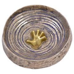 """Line Vautrin, """"La Main dans les Flots"""", trinket bowl, France, c. 1950"""