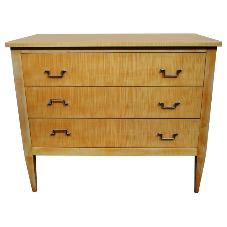 1960 39 S English Birch Wood Chest Of Drawers At 1stdibs