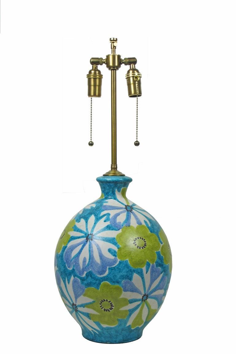 Blue ceramic table lamp - Italian Ceramic Table Lamp For Raymor 2