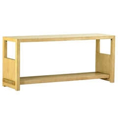 Jay Spectre Cerused White Oak Console Table for Century Furniture Company