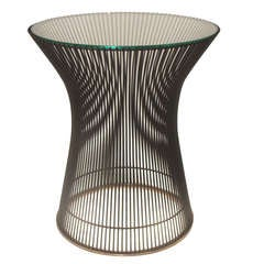 Bronze Plated Steel and Glass Occasional Table by Warren Platner for Knoll