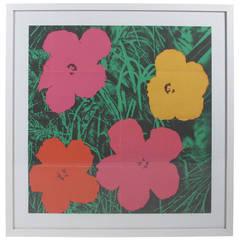 Andy Warhol Flowers Castelli Gallery Mailer 1964