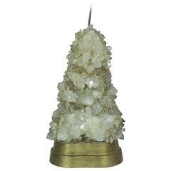 Stunning Carole Stupell Rock Crystal Table Lamp