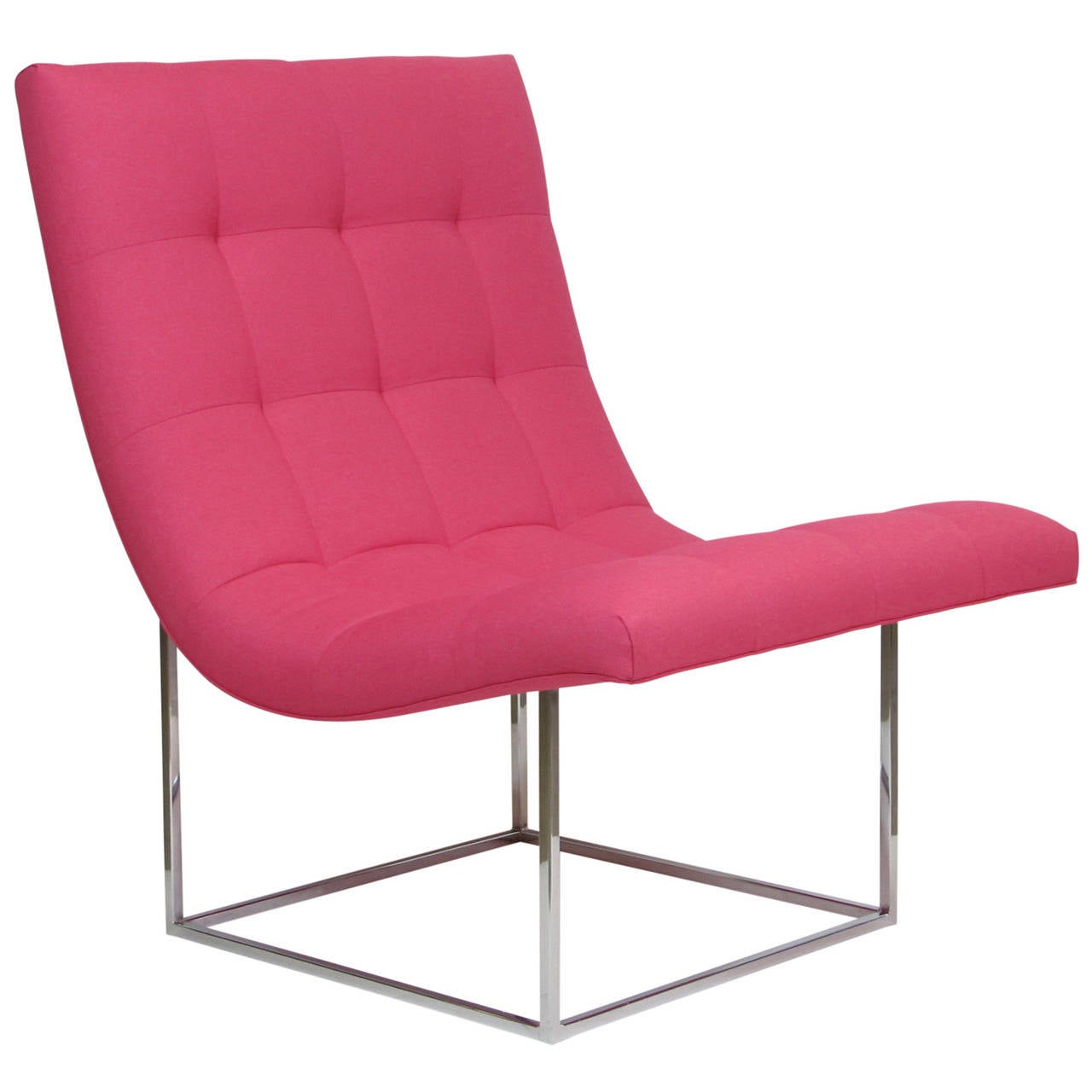 Milo Baughman Scoop Lounge Chair At 1stdibs