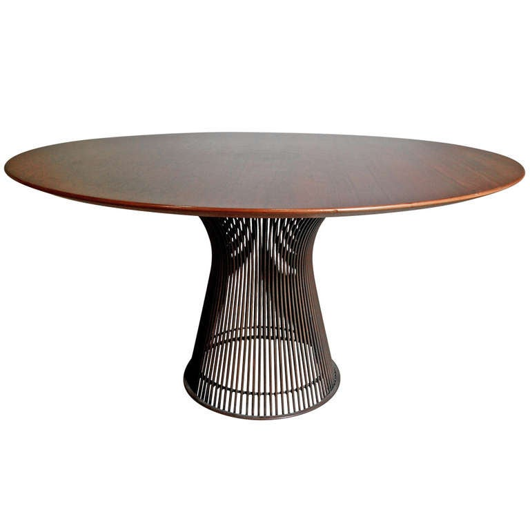 Rare Rosewood and Bronze Dining Table by Warren Platner  : 1077114l from www.1stdibs.com size 768 x 768 jpeg 29kB