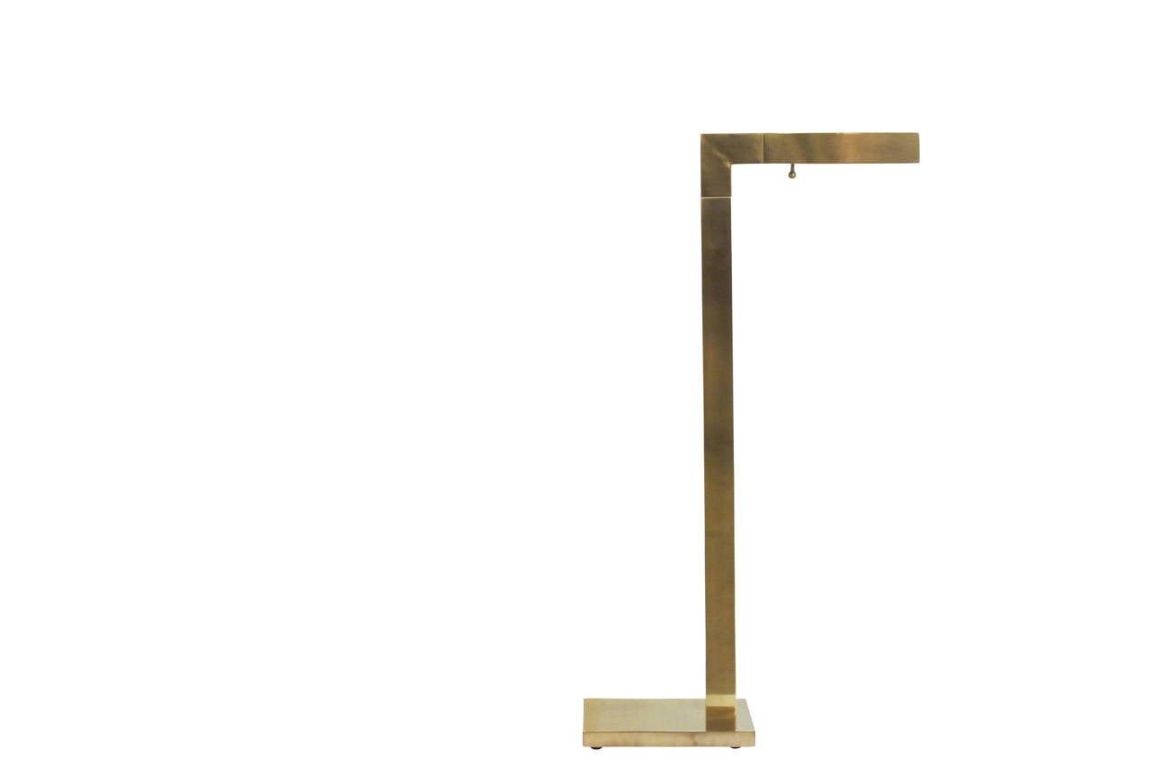 Brass Adjustable Floor Lamp by Chapman at 1stdibs
