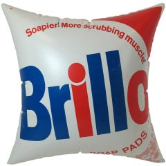 1960s Pop Art Inflatable Brillo Pillow After Andy Warhol