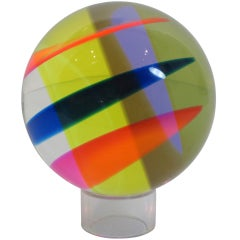 Vasa Mihich Laminated Acrylic Multi Plane Sphere in Flourescent Colors