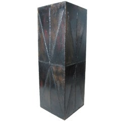 Paul Evans PE-36 Painted Welded Steel and Bronze Planter for Directional
