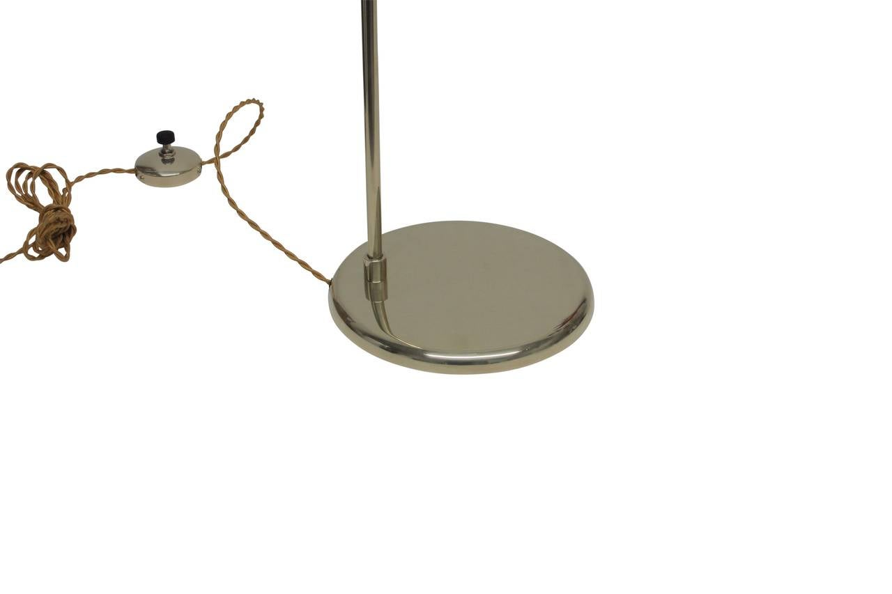 This pair of gerald thurston floor lamps is no longer available - Polished Brass Reading Lamp By Lightolier At 1stdibs
