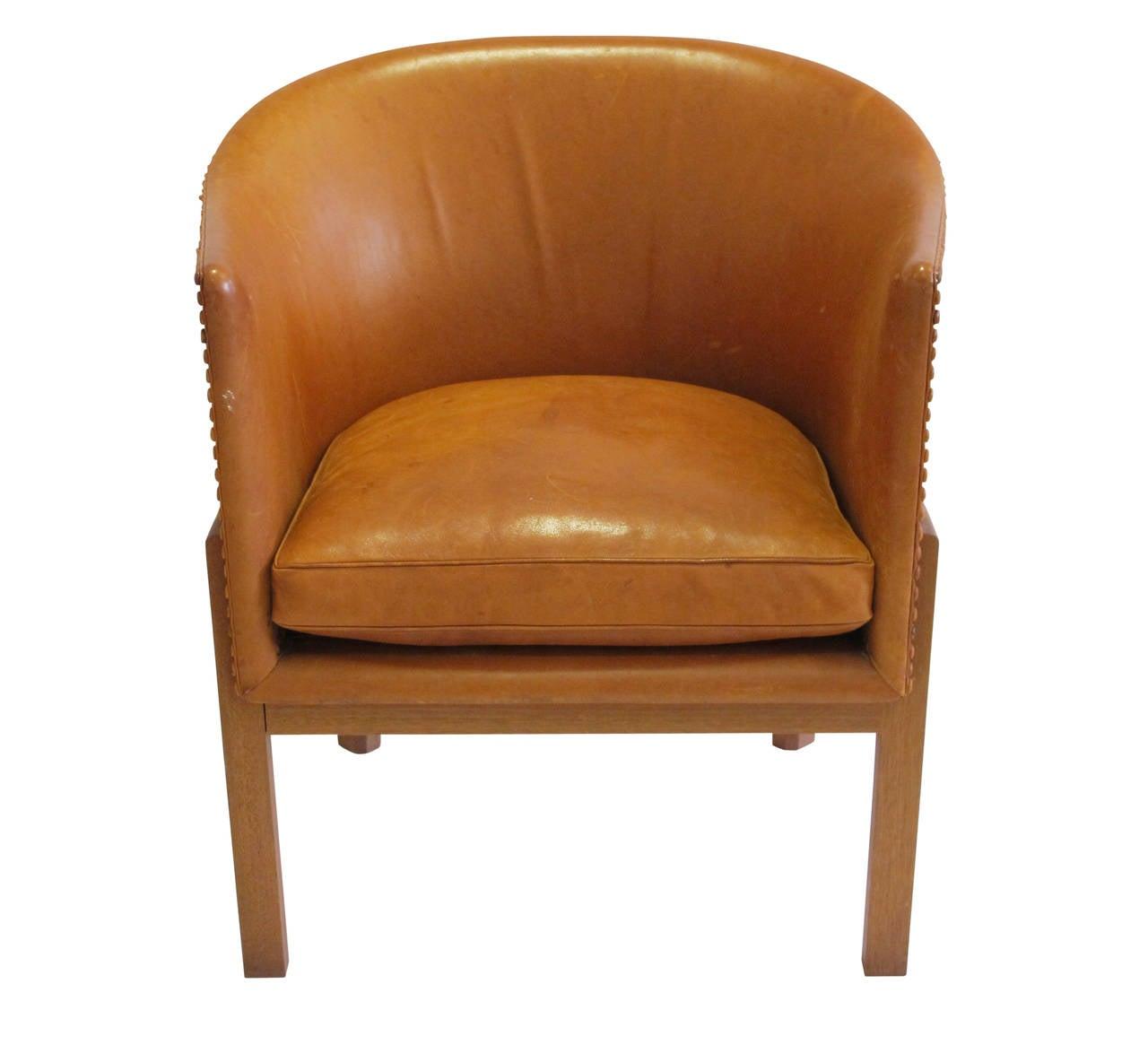 mogens koch armchair leather mahogany denmark 1960u0027s 3