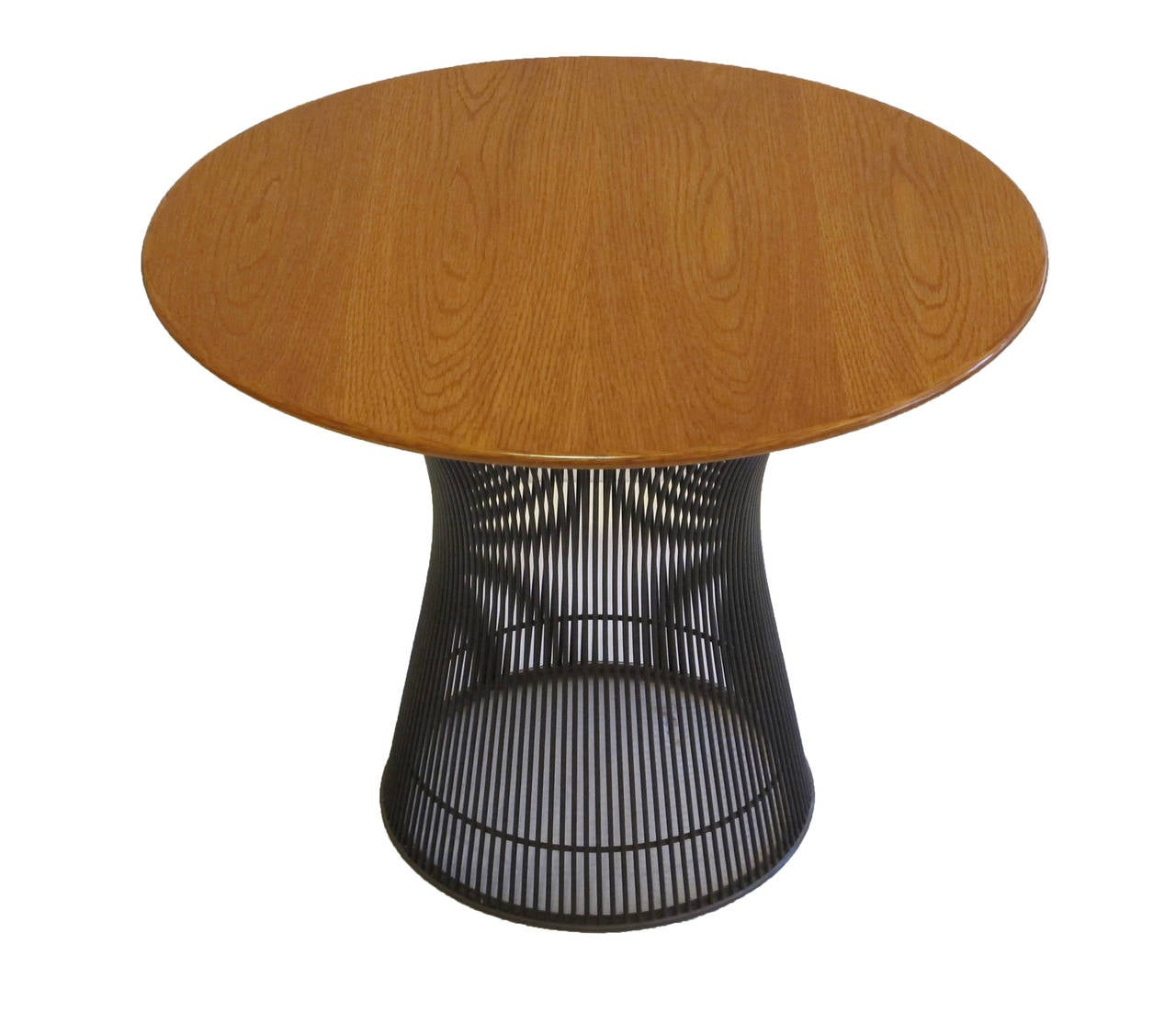 Oak and Bronze Side Table by Warren Platner for Knoll at 1stdibs