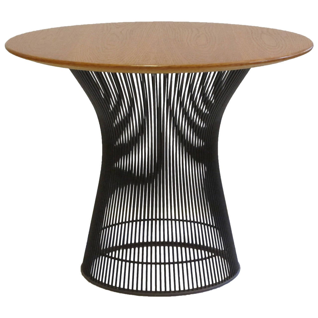 Oak and bronze side table by warren platner for knoll at for Table warren platner