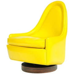 Petite Slipper Chair by Milo Baughman