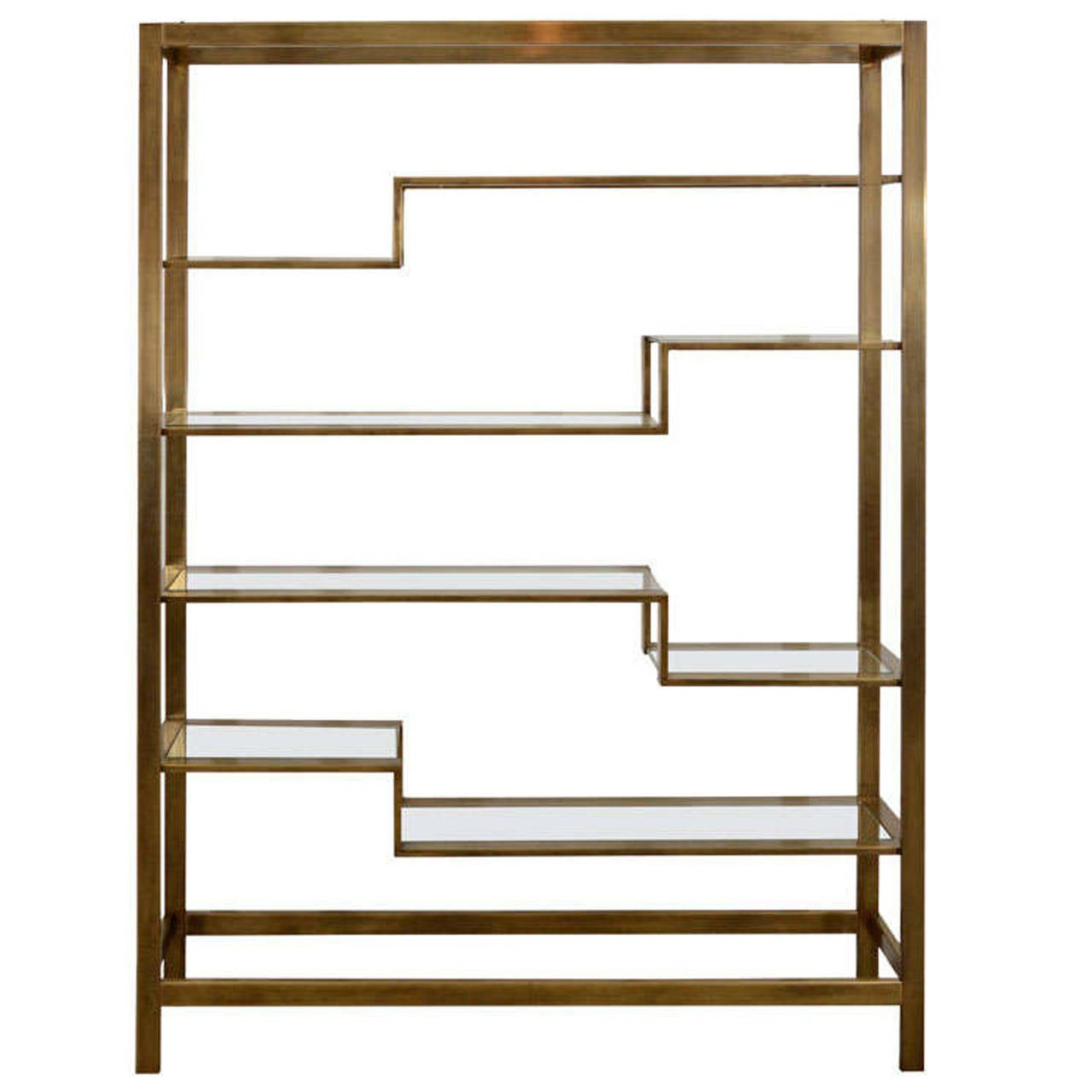 baker etagere brass at 1stdibs. Black Bedroom Furniture Sets. Home Design Ideas