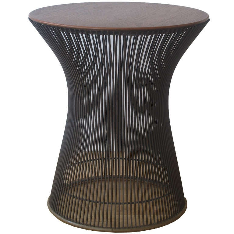 Warren Platner Side Table for Knoll in Bronze at 1stdibs : PlatnerSidetableinteakICONl from 1stdibs.com size 768 x 768 jpeg 62kB