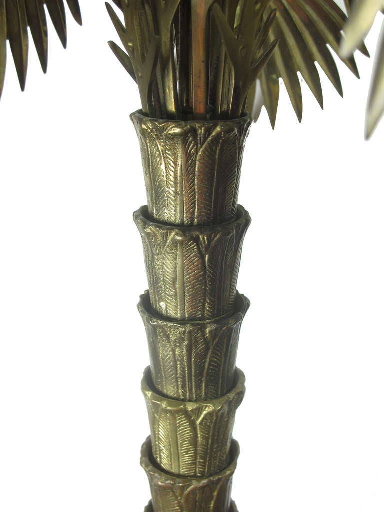 Bronze And Brass Palm Tree Table Lamp By Chapman At 1stdibs