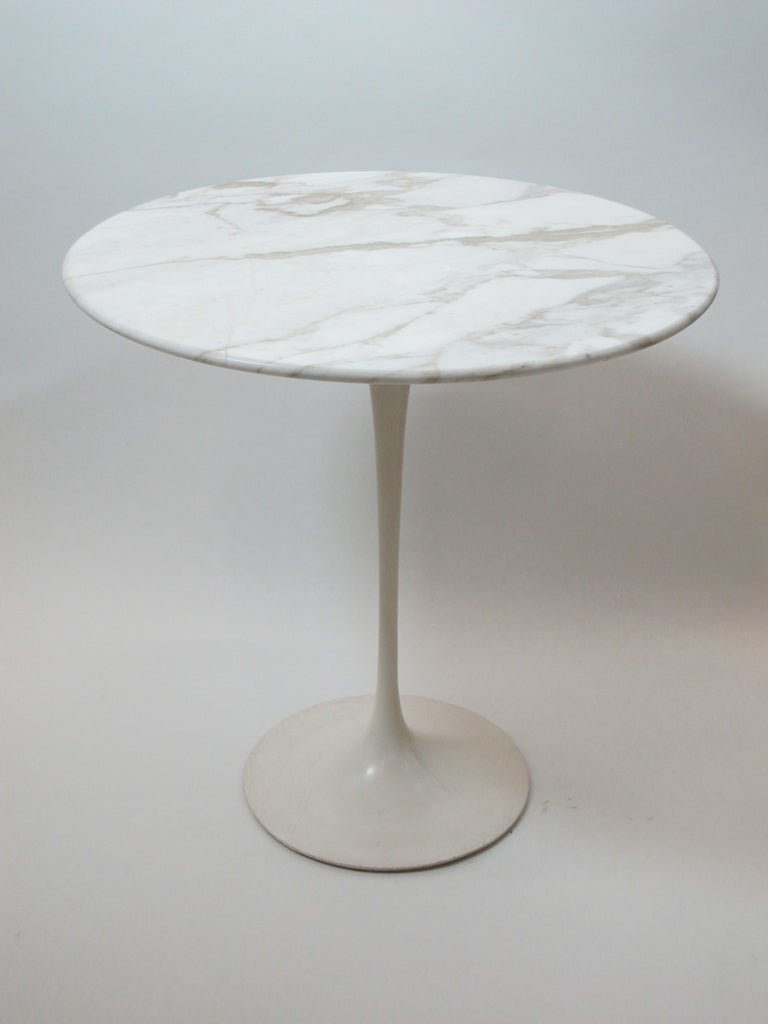 saarinen for knoll marble top side table at 1stdibs. Black Bedroom Furniture Sets. Home Design Ideas