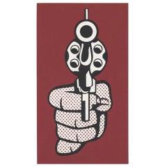 After Roy Lichtenstein Screenprint - Pistol from Banner 1968