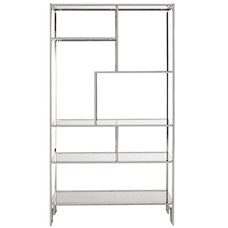 Milo baughman chrome etagere at 1stdibs - Etagere cases carrees ...