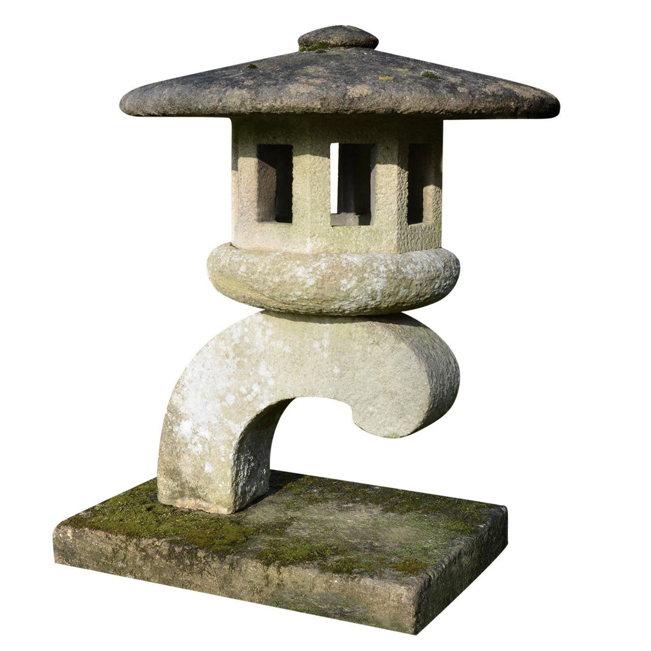 Carved bath stone japanese toro or lamp at stdibs