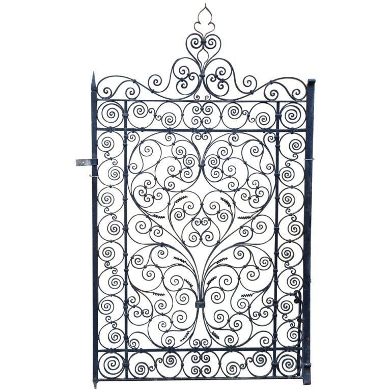 A Wrought Iron Garden Gate At 1stdibs
