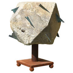 Large 18th Century Polyhedral Limestone Sundial