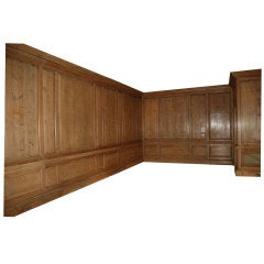 A large quantity of part 18th century Pine panelling
