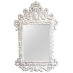 White Shell Pier Mirror
