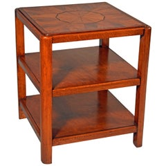 An early 20th century art deco etagere end table