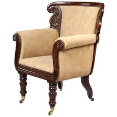 An Overscale William IV Library Armchair
