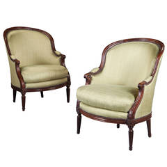 Fine Pair of 18th Century Bergere Armchairs