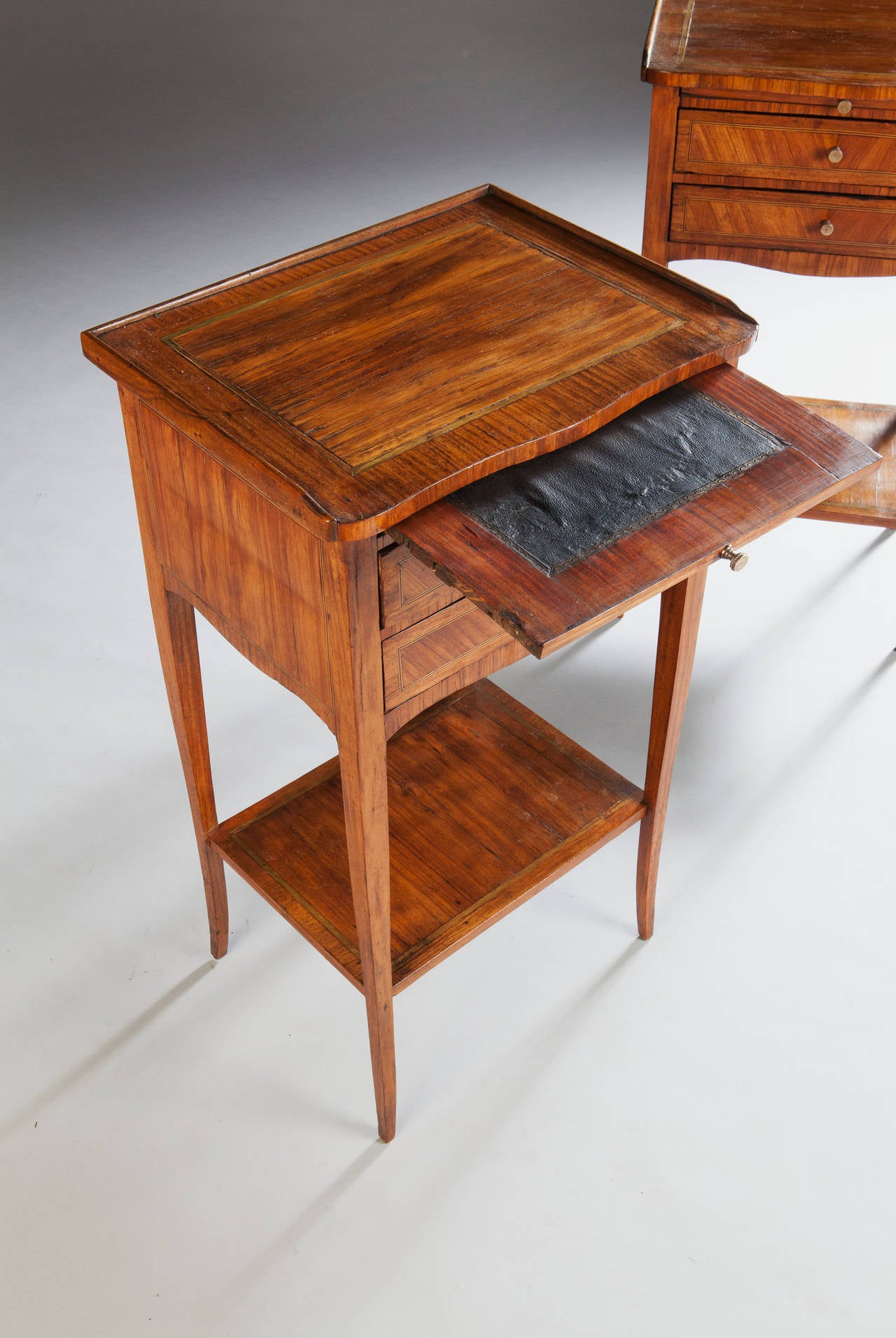 Wood Bedside Table : Fine Pair of Tulip Wood Bedside Tables at 1stdibs