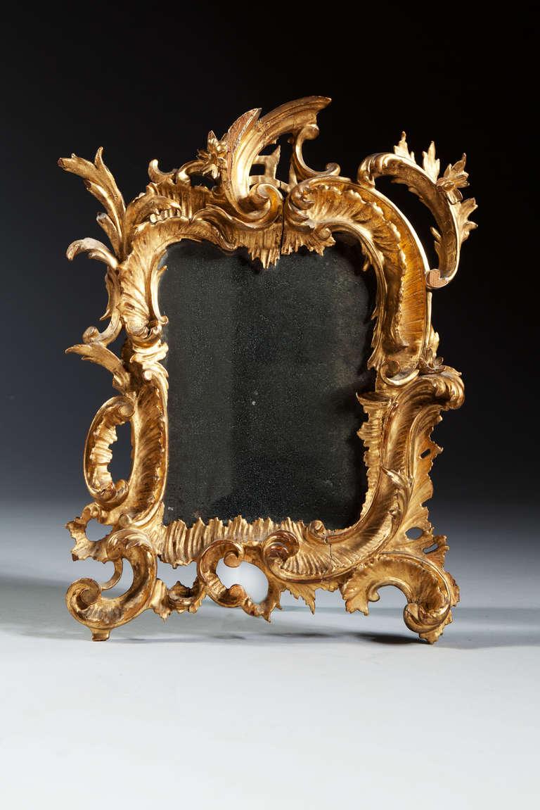 18th century italian rococo giltwood mirror at 1stdibs