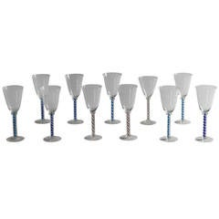 Set of 12 Spiral Twist Wine Glasses