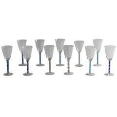 Set of 12 Spiral Twist Wine Glasses